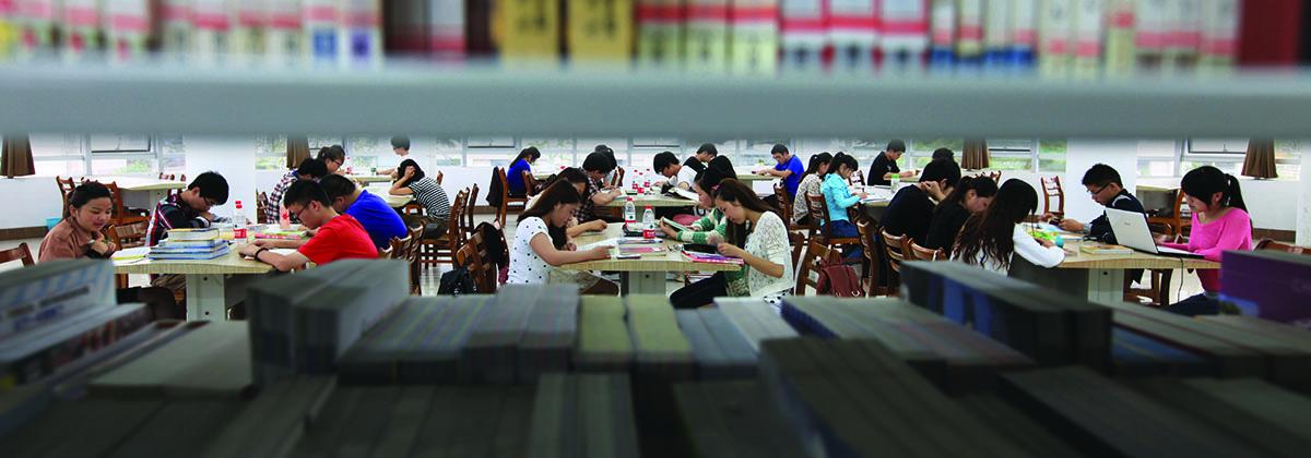 书香浸润-学校图书馆是学生探索求知的好地方